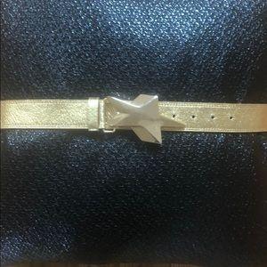 GUC Betsy Johnson Gold Genuine Leather Belt.